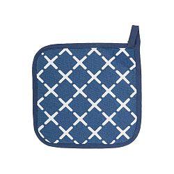 Sada 2 modrých bavlnených chňapiek Tiseco Home Studio Cross