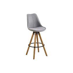 Sada 2 svetlosivých barových stoličiek Actona Dima