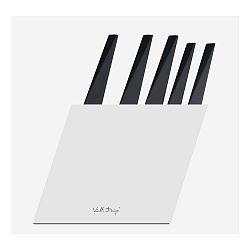 Sada 5 nožov s bielym stojanom Vialli Design Volo
