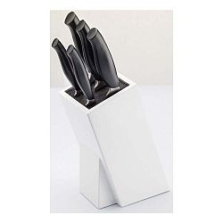 Sada 5 nožov z antikoro ocele a stojanu na nože Jean Dubost Crazy Blanc