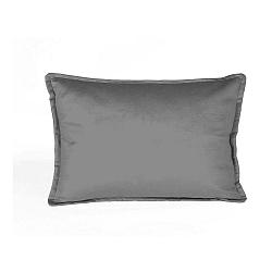 Sivá dekoratívna obliečka na vankúš Velvet Atelier Sigma, 50×35cm
