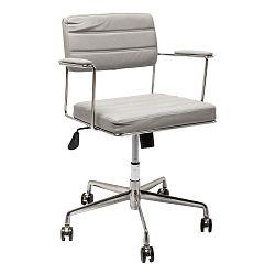 Sivá kancelárska stolička Kare Design Dottore