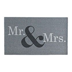 Sivá rohožka Zala Living Design Mr and Mrs,×70cm