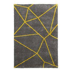 Sivo-žltý koberec Think Rugs Royal Nomadic Grey & Yellow, 120×170 cm