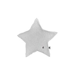 Sivý detský ľanový vankúš v tvare hviezdy BELLAMY Stripes