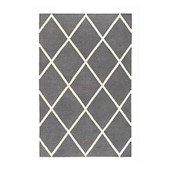 Sivý obojstranný koberec vhodný aj do exteriéru Green Decore Diamond Duro, 60 × 90 cm