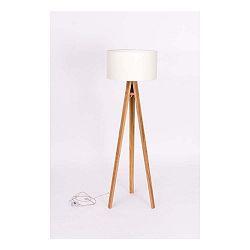 Stojacia lampa s čiernym tienidloma transparentným káblom Ragaba Wanda