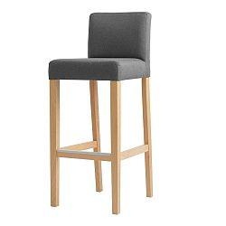 Tmavosivá barová stolička s prírodnými nohami Custom Form Wilton