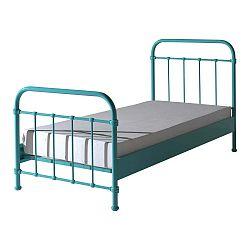 Žltá kovová detská posteľ Vipack New York, 90 × 200 cm