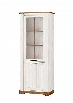 COUNTRY 10 vysoká vintage 1-dverová vitrína