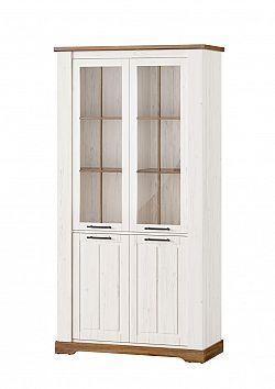 COUNTRY 12 vysoká vintage 2-dverová vitrína