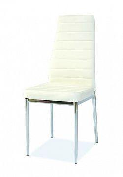 Jedálenská stolička H-261, biela-chróm
