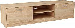 MARK 028 TV stolík s dvierkami a policami 160 cm, dub sonoma