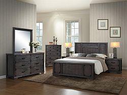Masívna drevená manželská posteľ CAMBRIDGE 180