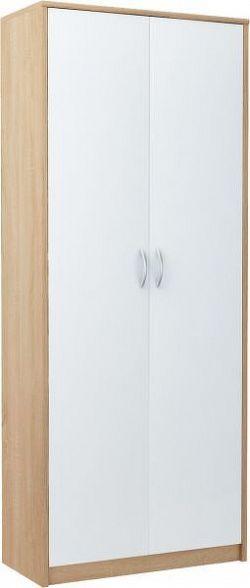 MAX 7 dvojdverová skriňa s policami, dub sonoma/biela