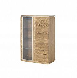 MONTENEGRO 2-dverová nízka vitrína z masívu 15