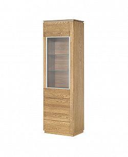 MONTENEGRO vitrína z masívneho dreva, ľavá 10L