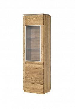 MONTENEGRO vitrína z masívneho dreva, pravá 11P