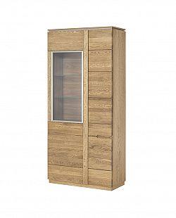 MONTENEGRO vysoká 2-dverová vitrína z masívu 12