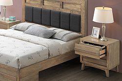 NajlacnejsiNabytok ALPENHOF drevený nočný stolík, dub Cadberry