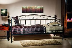 NajlacnejsiNabytok ANKARA kovová posteľ, čierna