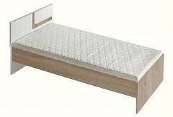 NajlacnejsiNabytok APETITO posteľ A12, dub svetlý