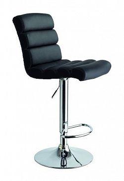 NajlacnejsiNabytok Barová stolička C-617, čierna