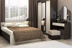 NajlacnejsiNabytok BASYA 4 lacná spálňa dub belfort / wenge
