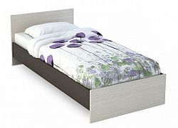 NajlacnejsiNabytok BASYA lacná jednolôžková posteľ 90x200 KP-555, dub belfort/wenge