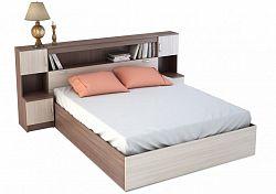 NajlacnejsiNabytok BASYA manželská posteľ zo záhlavím KP-552, jasan šimo