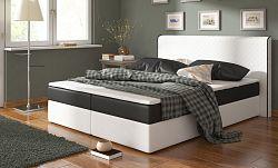 NajlacnejsiNabytok BERGAMO posteľ 180 biela/čierna