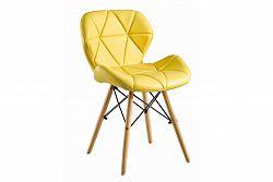 NajlacnejsiNabytok BOSSE čalúnená stolička, žltá