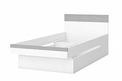 NajlacnejsiNabytok BOTA 33 detská posteľ 90 cm, biela, betón Colorado