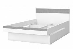 NajlacnejsiNabytok BOTA 34 detská posteľ 120 cm, biela, betón Colorado