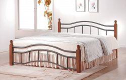 NajlacnejsiNabytok CALABRIA 9059 posteľ - korpus 180cm; čerešňa antická/kov