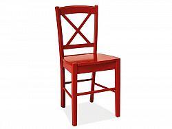 NajlacnejsiNabytok CD-56 drevená stolička, červená »