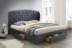 NajlacnejsiNabytok CELINE čalúnená manželská posteľ 160