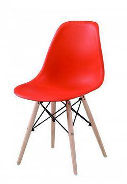 NajlacnejsiNabytok CINKLA II jedálenská stolička, červená