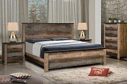 NajlacnejsiNabytok COLORADO drevená manželská posteľ 180