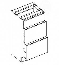 NajlacnejsiNabytok COSTA dolná skrinka so zásuvkami D40S3, oliva