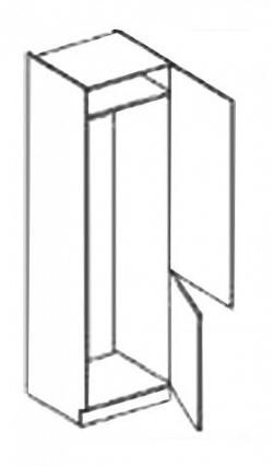 NajlacnejsiNabytok COSTA skrinka na vstavanú chladničku DL60-PL, sonoma
