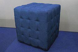 NajlacnejsiNabytok CUBIX II čalúnená taburetka, modrá