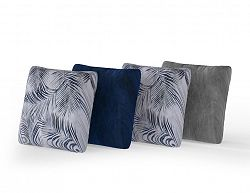 NajlacnejsiNabytok Dekoračný set 4 ks vankúšov modrý