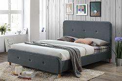 NajlacnejsiNabytok DELI čalúnená manželská posteľ 160