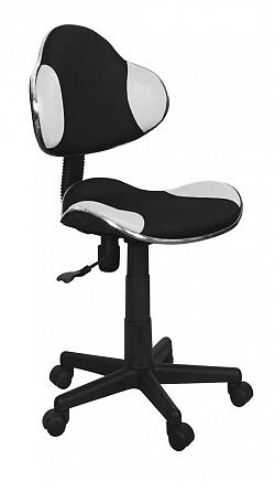 NajlacnejsiNabytok Detská otočná stolička Q-G2, čierno-biela