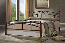 NajlacnejsiNabytok DOLORES-CRETA kovová manželská posteľ 140x200