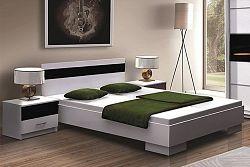 NajlacnejsiNabytok Dubaj posteľ 160x200, biela/čierna
