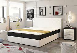 NajlacnejsiNabytok ECO SPRING posteľ 180 biela/čierna