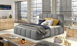 NajlacnejsiNabytok EDVIGE čalúnená posteľ, Savana 21 140x200 cm