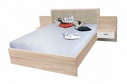 NajlacnejsiNabytok EFFECT manželská posteľ so stolíkmi EF2L